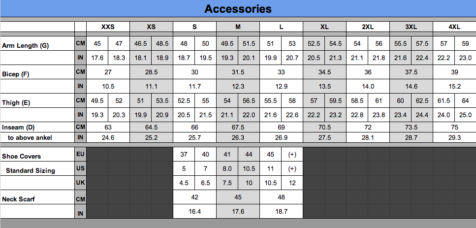 Accessories-Sizing-Chart