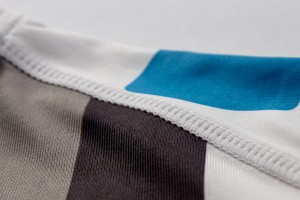 Flat Lock Stitching Detail in Steen Wear Custom Cycling Clothing