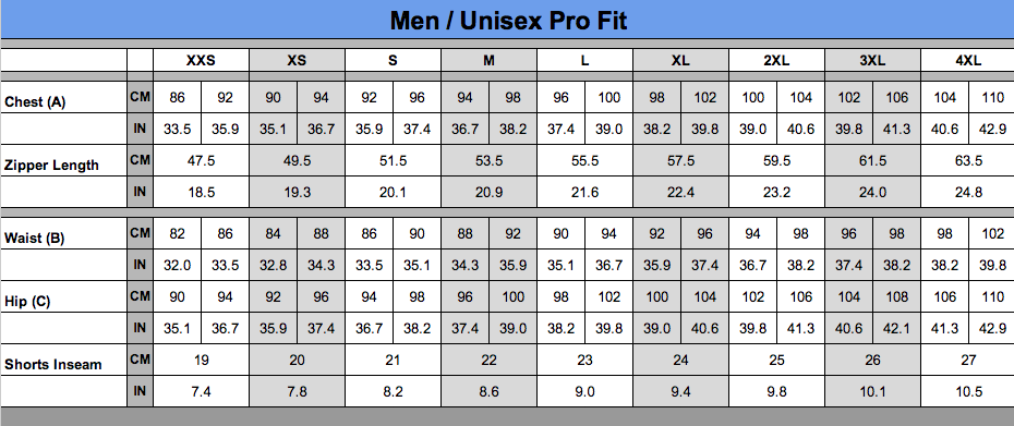 Men-Unisex-Pro-Fit-Sizing-Chart