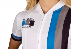 Steen Wear's Full Length Hidden Zipper for cycling apparel