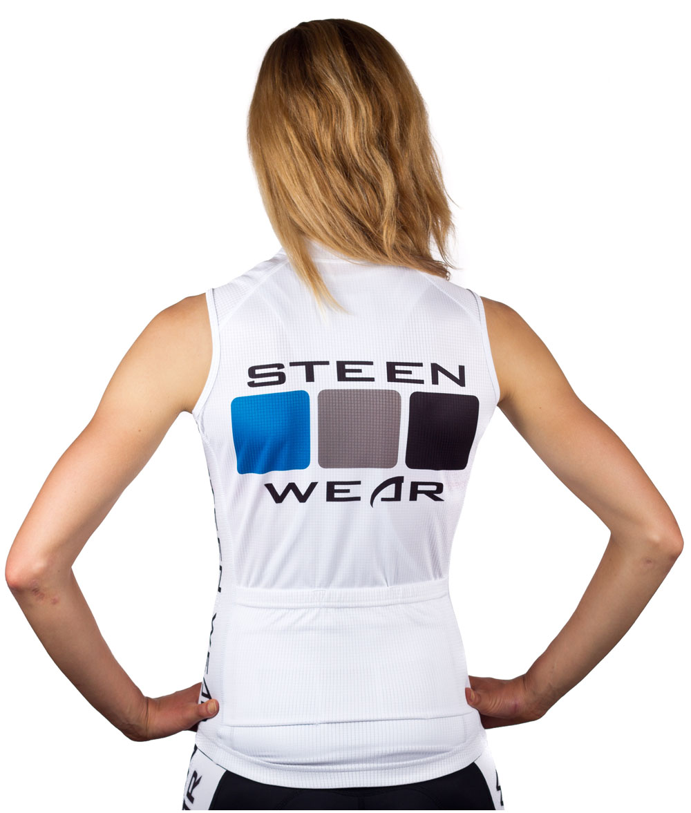 Custom Women's Cycling Clothing - Sleeveless Jersey by Steen Wear