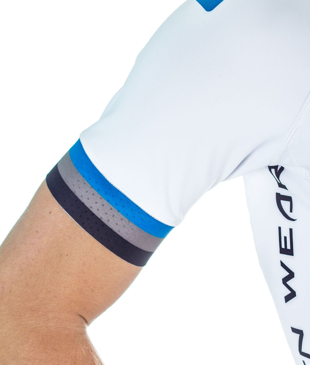 Custom Men's Cycling Clothing - Short Sleeve Skinsuit by Steen Wear